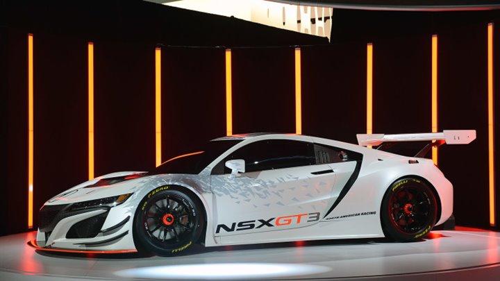 01-acura-nsx-gt3-ny-1, 2017 Acura NSX GT3, Acura, Race Cars, Performance Cars, 2017 Car Models, 2016 New York Auto Show, Car Shows