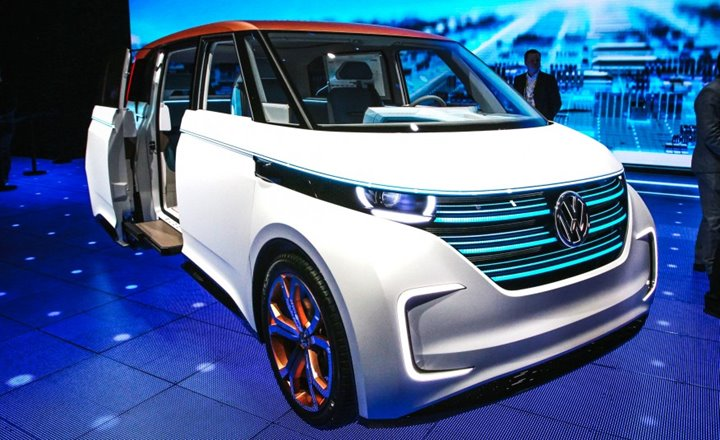 2017 Volkswagen BUDD-e, Volkswagen, German Cars, Electric Cars, Eco-Friendly Cars, 2016 New York Auto Show, Concept Cars