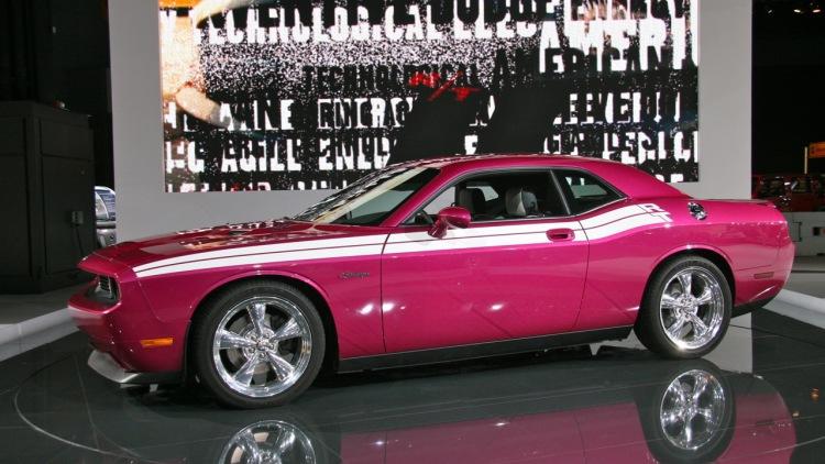 Dodge Challenger, Pink Dodge Challenger, Dodge, American Cars, 2010 Chicago Auto Show, Chicago Auto Show, Car Shows, American Car Shows