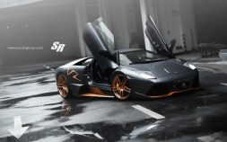 Rose Gold Lamborghini Murcielago LP650-4 Roadster